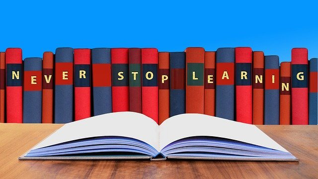 Books that spell out never stop learning - Day Care Curriculum